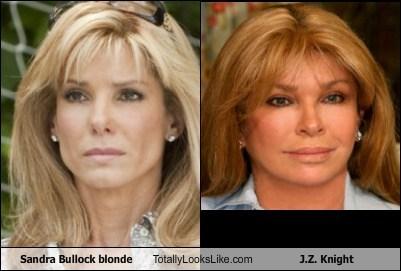 Sandra Bullock blonde Totally Looks Like J.Z. Knight