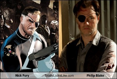 the governor The Walking Dead Nick Fury phillip black totally looks like