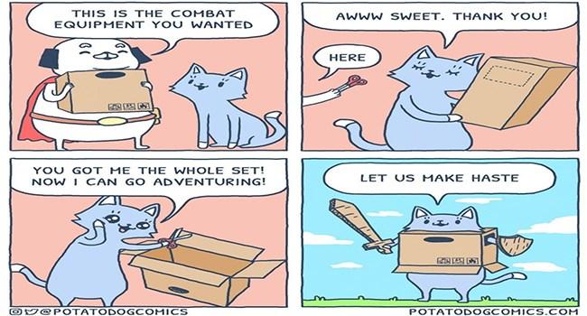 cat comics cute doggo adventure funny web comics - 7220997