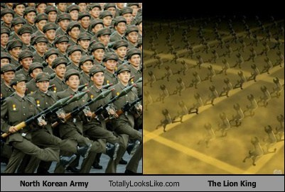 hyenas,North Korea,totally looks like,army