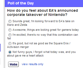 poll EA april fools noooooo nintendo - 7222808832