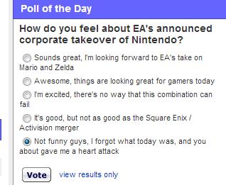 poll EA april fools noooooo nintendo - 7222808832