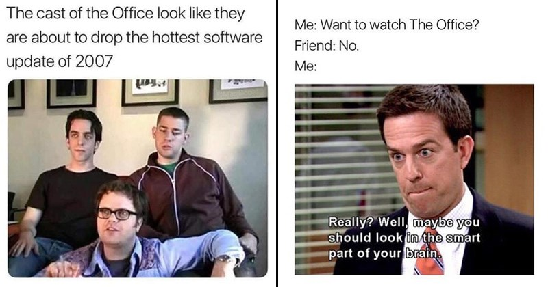 cover image of the office actors when they were young, when your friend doesn't want to watch with you