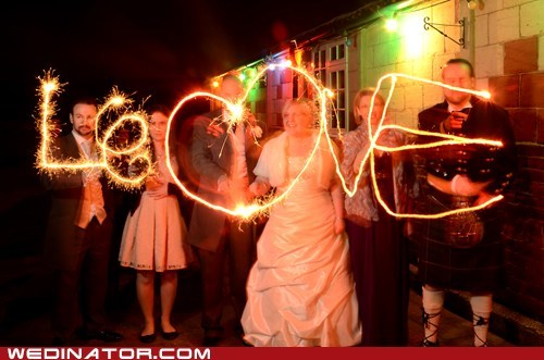 sparklers,kilts,love