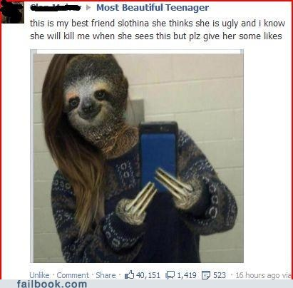 dat face sloths failbook g rated - 7227486976