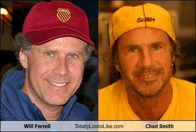 chad smith totally looks like Will Ferrell