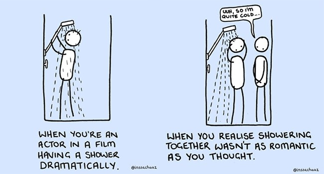 shower thoughts illustrations