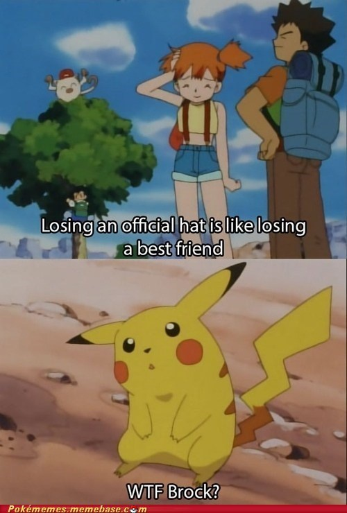 brock wtf anime hats pikachu - 7230693888