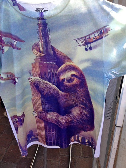 king kong,t shirts,sloths