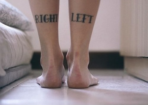 left,right,leg tattoos