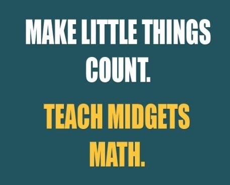 midgets giants math - 7231214336