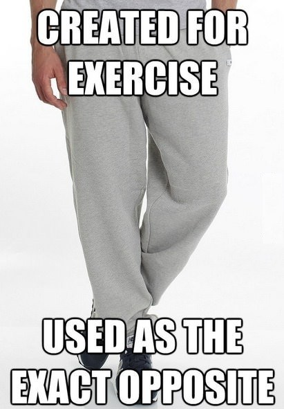 lazy sweatpants exercise pajamas - 7231398144
