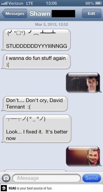 iPhones,David Tennant,upset,doctor who,g rated,AutocoWrecks