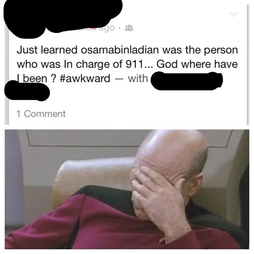 911 facepalm Osama Bin Laden - 7231684864