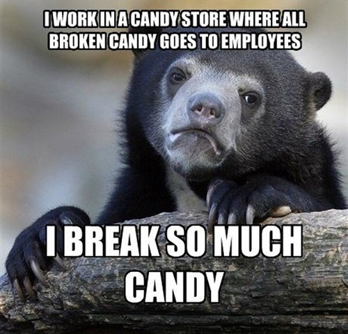 candy work confression bear