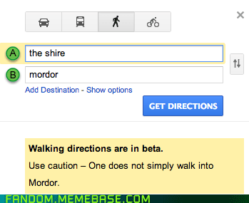 mordor Lord of the Rings google maps one does not simply