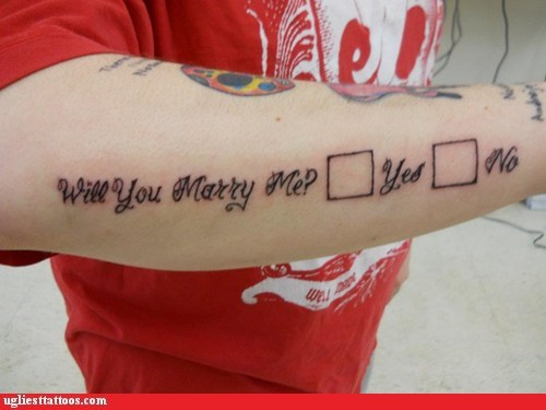 marry me proposals arm tattoos