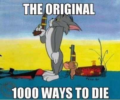 Tom and Jerry,1000 ways to die,cartoons