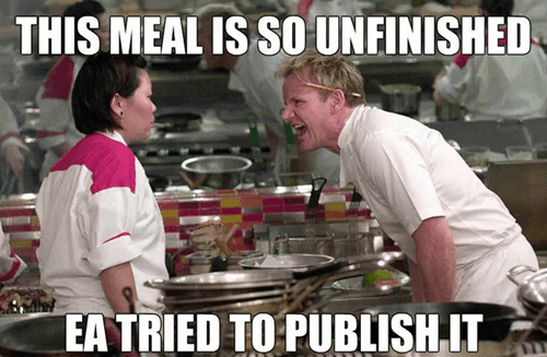 gordon ramsay burned EA video games - 7232871168