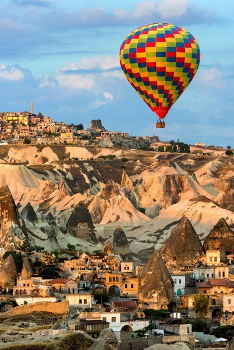 Hot Air Balloon,landscape,flying
