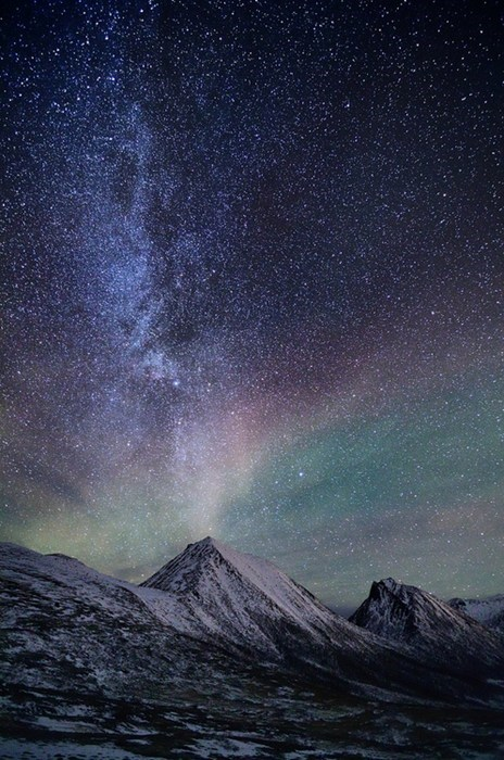 Norway,landscape,stars,mountains