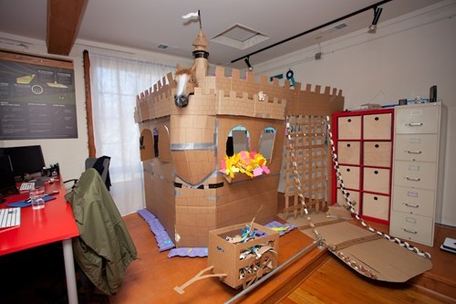 Office,fort,cardboard