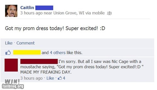 prom dress,nicolas cage,profile pictures,prom,failbook,g rated