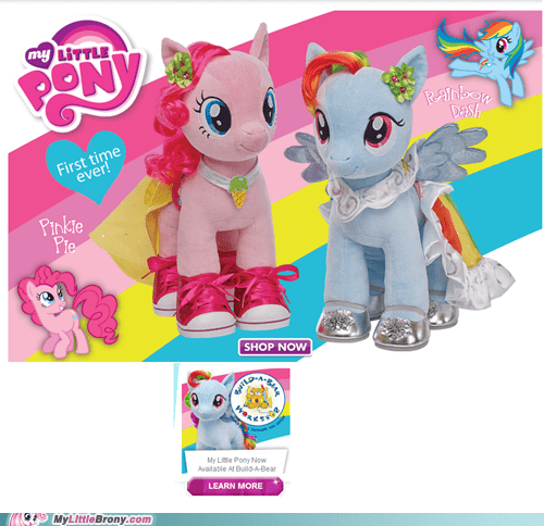 ponies,irl omg,build a bear