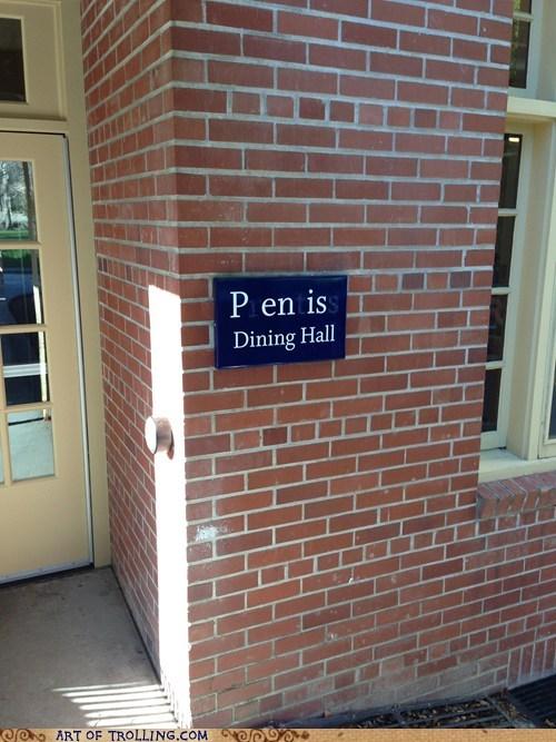 signs prentiss dining hall graffiti - 7235567872