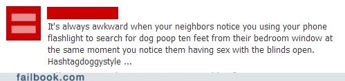 neighbors Awkward dog poop