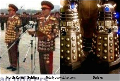 daleks,North Korea,totally looks like,soldiers