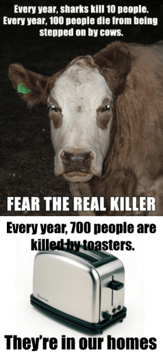 deaths toasters re-frames cows