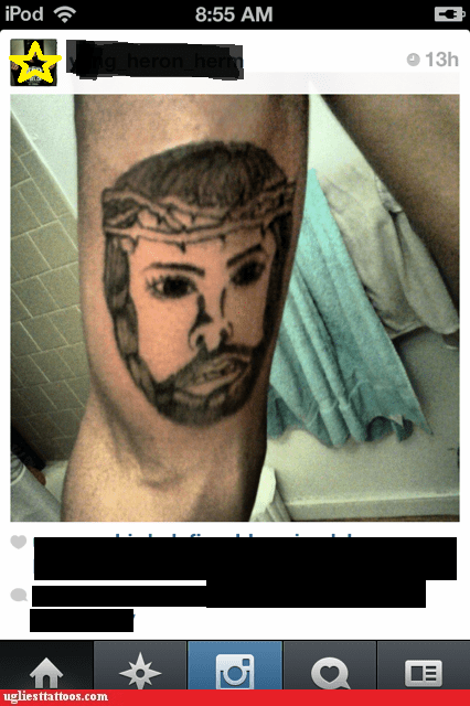 jesus,arm tattoos,chuck norris