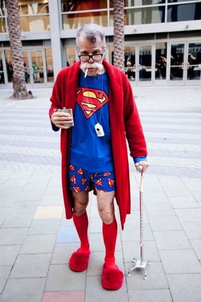 pajamas old men superman poorly dressed g rated