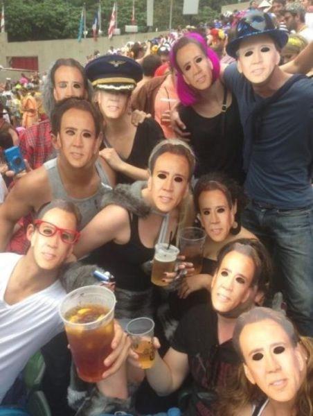 nicolas cage,masks,parties