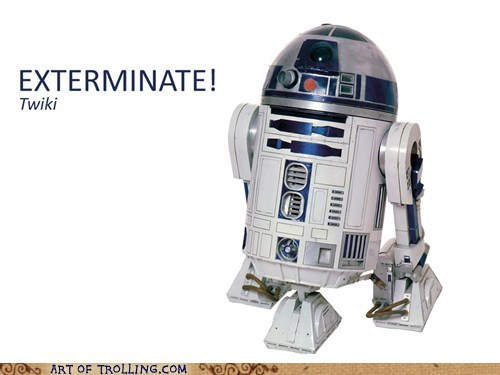 r2d2,star wars,daleks,doctor who,twiki