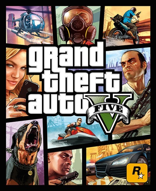 cover art,grand theft auto v,Grand Theft Auto,Rockstar Games