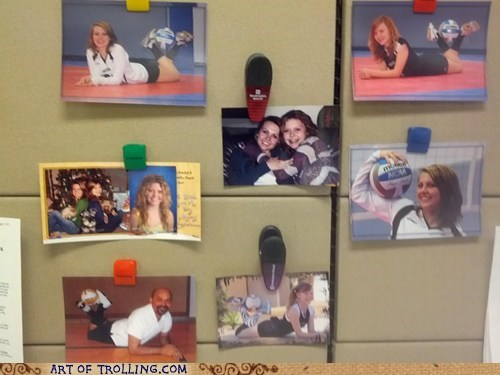 Office,self portraits,family photos,cubicle