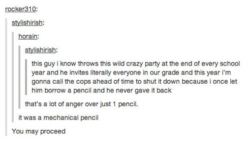 cops,revenge,pencils,deserved it