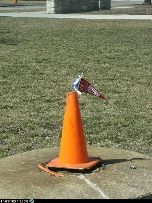 orange cones school spirit flags - 7240354560