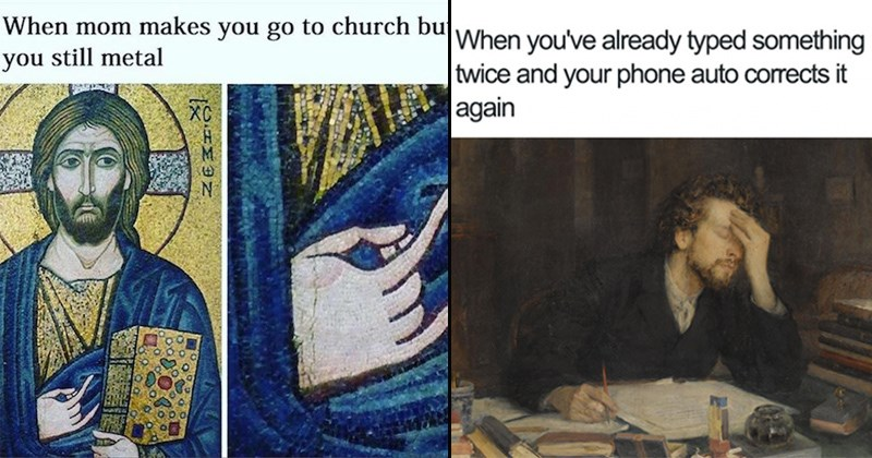 classical art made into hilarious memes
