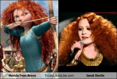hair,janet devlin,brave,merida,totally looks like