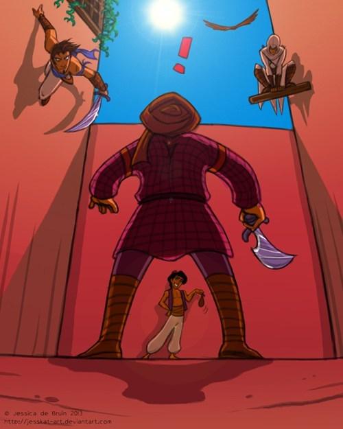 prince of persia teamwork aladdin assassins creed - 7240680192