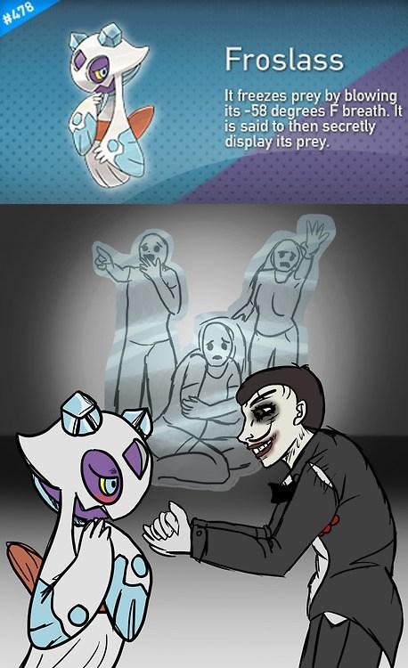 froslass Pokémon art pokedex entries creepy - 7240803584