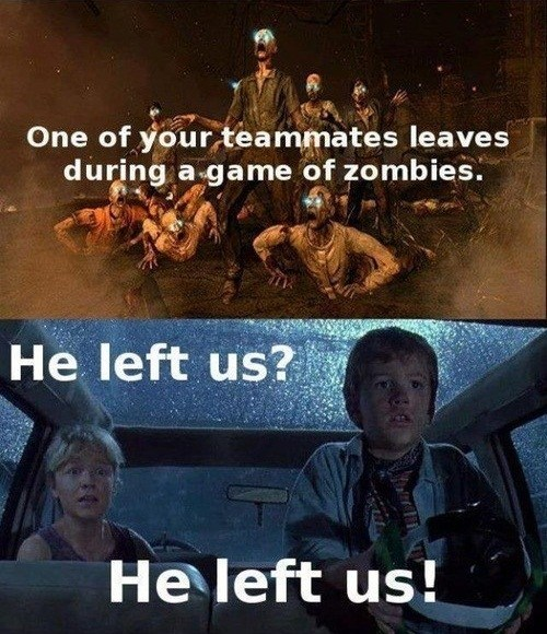 call of duty,teammates,zombie,video games,jurassic park