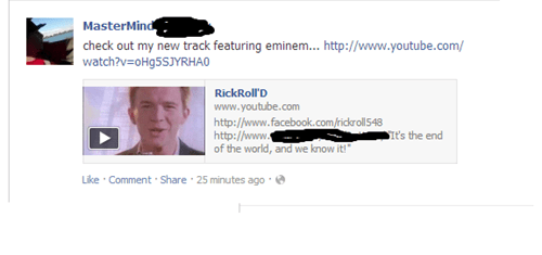 rickrolled april fools eminem rick astley