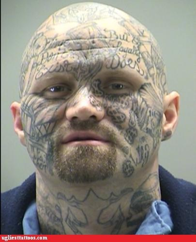face tattoos mugshots money
