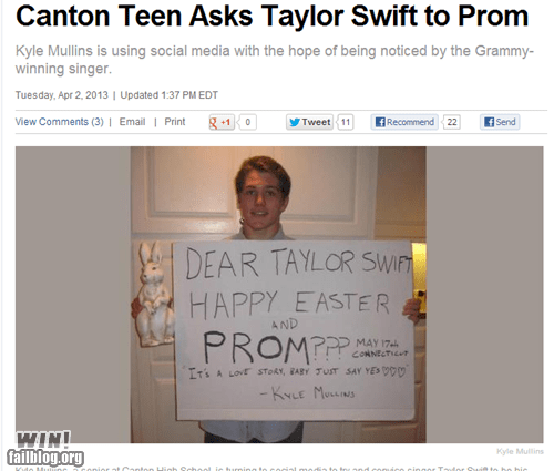 asking out taylor swift prom - 7241056256