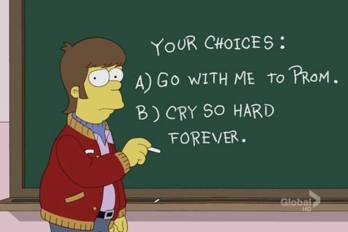 homer simpson,asking her out,prom,the simpsons