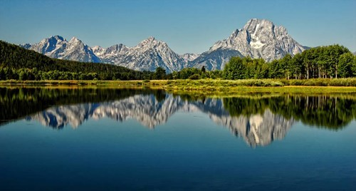 reflection,landscape,mountains